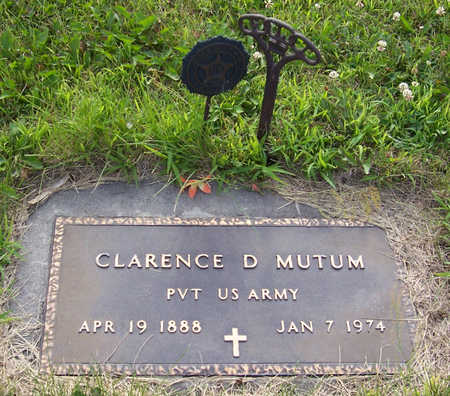 MUTUM, CLARENCE D. (MILITARY) - Shelby County, Iowa | CLARENCE D. (MILITARY) MUTUM
