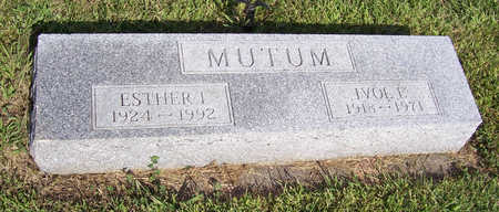 MUTUM, ESTHER J. - Shelby County, Iowa | ESTHER J. MUTUM