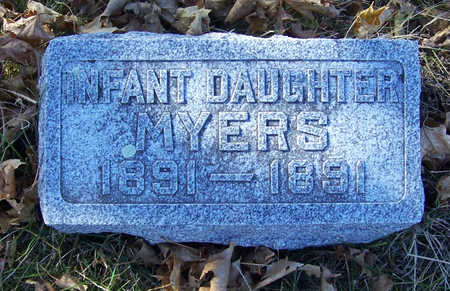 MYERS, INFANT DAUGHTER - Shelby County, Iowa   INFANT DAUGHTER MYERS