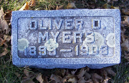 MYERS, OLIVER D. - Shelby County, Iowa   OLIVER D. MYERS