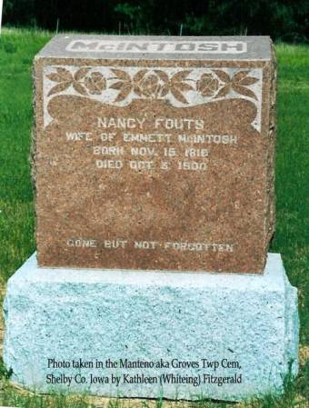 MCINTOSH, NANCY (FOUTS) - Shelby County, Iowa | NANCY (FOUTS) MCINTOSH