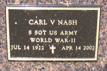 NASH, CARL V. (MILITARY) - Shelby County, Iowa | CARL V. (MILITARY) NASH