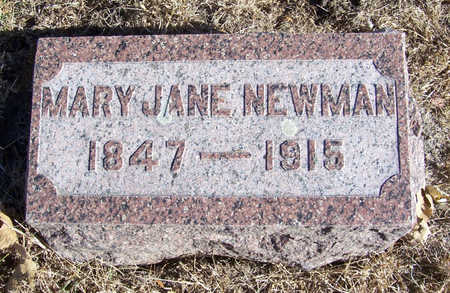 NEWMAN, MARY JANE - Shelby County, Iowa | MARY JANE NEWMAN