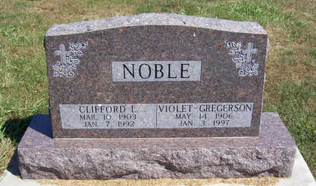 GREGERSON NOBLE, VIOLET - Shelby County, Iowa | VIOLET GREGERSON NOBLE