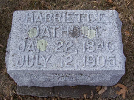 OATHOUT, HARRIETT E. - Shelby County, Iowa | HARRIETT E. OATHOUT