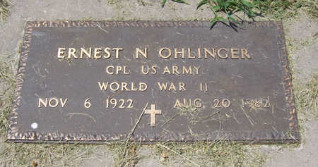 OHLINGER, ERNEST N. (MILITARY) - Shelby County, Iowa | ERNEST N. (MILITARY) OHLINGER