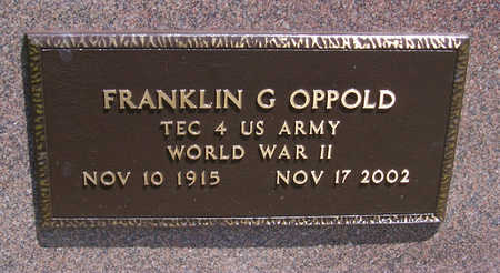 OPPOLD, FRANKLIN G. (MILITARY) - Shelby County, Iowa | FRANKLIN G. (MILITARY) OPPOLD