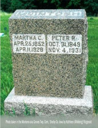 MCINTOSH, PETER R. & MARTHA C. - Shelby County, Iowa | PETER R. & MARTHA C. MCINTOSH