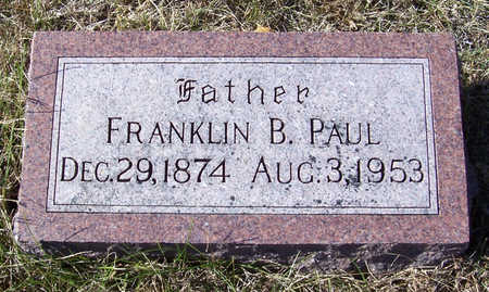PAUL, FRANKLIN B. (FATHER) - Shelby County, Iowa | FRANKLIN B. (FATHER) PAUL