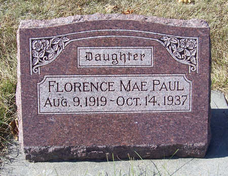 PAUL, FLORENCE MAE - Shelby County, Iowa | FLORENCE MAE PAUL