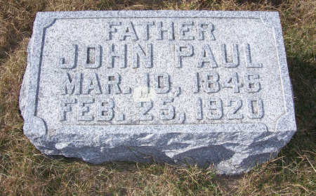 PAUL, JOHN (FATHER) - Shelby County, Iowa | JOHN (FATHER) PAUL