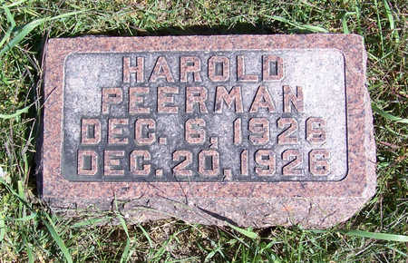 PEERMAN, HAROLD - Shelby County, Iowa | HAROLD PEERMAN