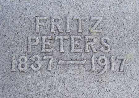 PETERS, FRITZ (CLOSE-UP) - Shelby County, Iowa | FRITZ (CLOSE-UP) PETERS