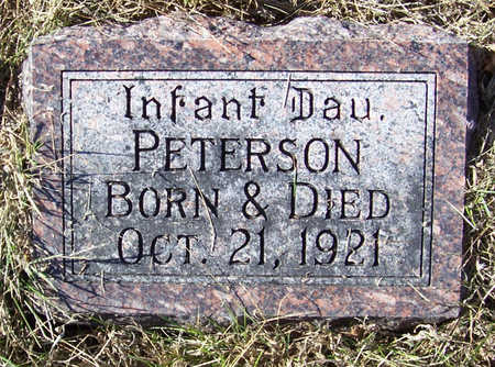 PETERSON, INFANT DAUGHTER - Shelby County, Iowa | INFANT DAUGHTER PETERSON