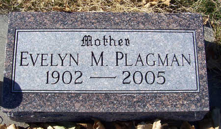 PLAGMAN, EVELYN M. (MOTHER) - Shelby County, Iowa | EVELYN M. (MOTHER) PLAGMAN