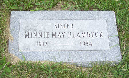 PLAMBECK, MINNIE MAY - Shelby County, Iowa | MINNIE MAY PLAMBECK