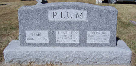 PLUM, HENRIETTA - Shelby County, Iowa | HENRIETTA PLUM