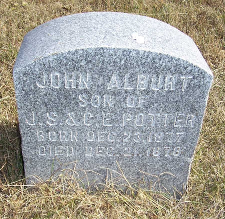 POTTER, JOHN ALBURT - Shelby County, Iowa | JOHN ALBURT POTTER