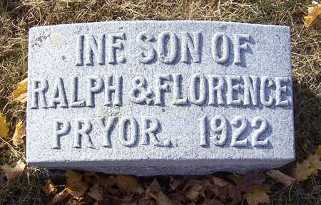 PRYOR, INFANT SON - Shelby County, Iowa | INFANT SON PRYOR