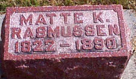 RASMUSSEN, MATTE K - Shelby County, Iowa | MATTE K RASMUSSEN