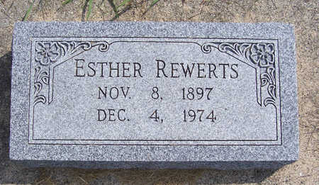 REWERTS, ESTHER - Shelby County, Iowa | ESTHER REWERTS