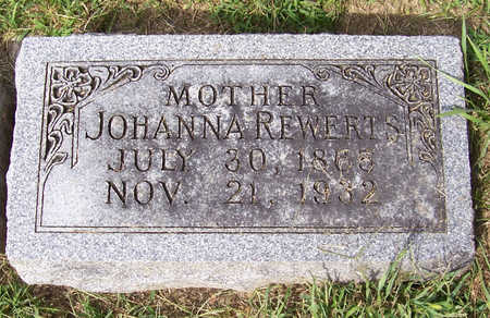 REWERTS, JOHANNA (MOTHER) - Shelby County, Iowa | JOHANNA (MOTHER) REWERTS