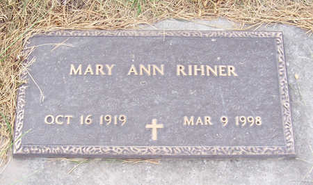 RIHNER, MARY ANN - Shelby County, Iowa | MARY ANN RIHNER