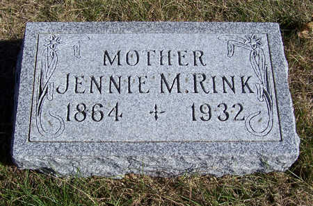 RINK, JENNIE M. (MOTHER) - Shelby County, Iowa | JENNIE M. (MOTHER) RINK