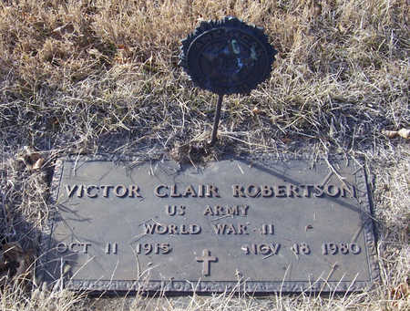 ROBERTSON, VICTOR CLAIR (MILITARY) - Shelby County, Iowa   VICTOR CLAIR (MILITARY) ROBERTSON