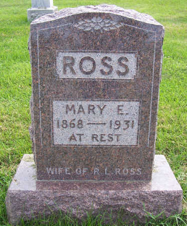 ROSS, MARY E. - Shelby County, Iowa | MARY E. ROSS