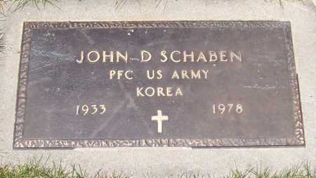 SCHABEN, JOHN D. (MILITARY) - Shelby County, Iowa | JOHN D. (MILITARY) SCHABEN