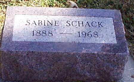 SCHACK, SABINE - Shelby County, Iowa   SABINE SCHACK