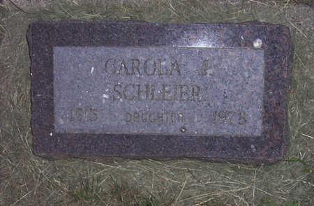 SCHLEIER, CAROLA J. - Shelby County, Iowa | CAROLA J. SCHLEIER