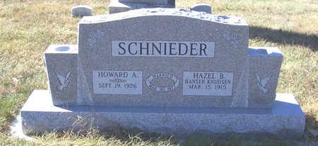 SCHNIEDER, HOWARD A. - Shelby County, Iowa | HOWARD A. SCHNIEDER
