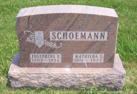 SCHOEMANN, MATHILDA S. - Shelby County, Iowa | MATHILDA S. SCHOEMANN
