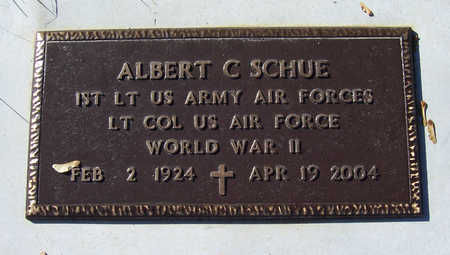 SCHUE, ALBERT C. (MILITARY) - Shelby County, Iowa | ALBERT C. (MILITARY) SCHUE