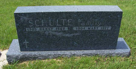 SCHULTE, MARY - Shelby County, Iowa | MARY SCHULTE