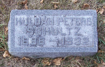 PETERS SCHULTZ, HULDAH - Shelby County, Iowa | HULDAH PETERS SCHULTZ