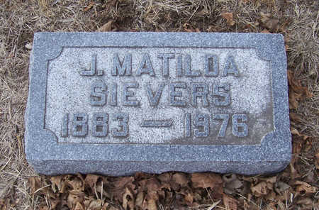 SIEVERS, J. MATILDA - Shelby County, Iowa | J. MATILDA SIEVERS