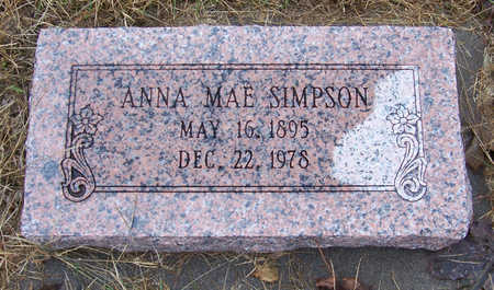 SIMPSON, ANNA MAE - Shelby County, Iowa | ANNA MAE SIMPSON