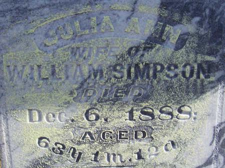 SIMPSON, JULIA ANN (CLOSE-UP) - Shelby County, Iowa | JULIA ANN (CLOSE-UP) SIMPSON