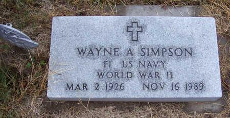 SIMPSON, WAYNE A. (MILITARY) - Shelby County, Iowa | WAYNE A. (MILITARY) SIMPSON