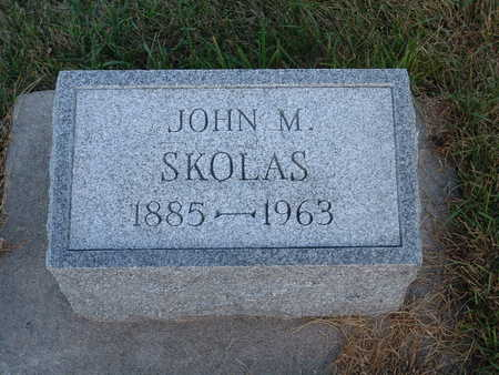 SKOLAS, JOHN M - Shelby County, Iowa | JOHN M SKOLAS