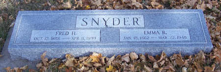 SNYDER, FRED H. - Shelby County, Iowa | FRED H. SNYDER