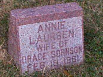 SORNSON, ANNIE - Shelby County, Iowa | ANNIE SORNSON