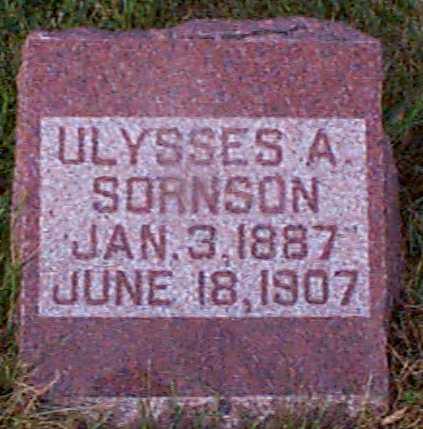 SORNSEN, ULYSSES A - Shelby County, Iowa   ULYSSES A SORNSEN