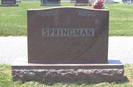 SPRINGMAN, CARL & EVA (LOT) - Shelby County, Iowa   CARL & EVA (LOT) SPRINGMAN