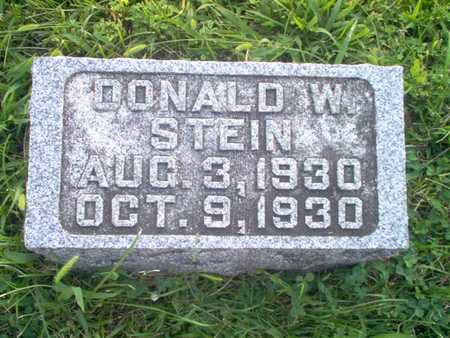 STEIN, DONALD W. - Shelby County, Iowa | DONALD W. STEIN