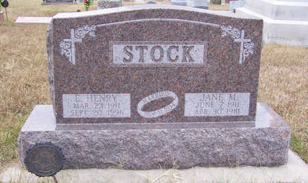 STOCK, E. HENRY - Shelby County, Iowa | E. HENRY STOCK