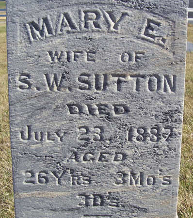 SUTTON, MARY E. (CLOSE-UP) - Shelby County, Iowa | MARY E. (CLOSE-UP) SUTTON